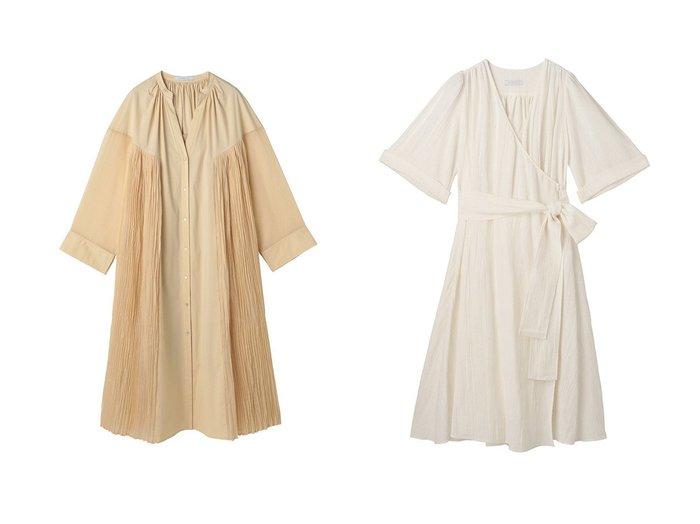 【ETRE TOKYO/エトレトウキョウ】のカシュクールワイドベルトワンピース&シアーサイドプリーツワンピース 【ワンピース・ドレス】おすすめ!人気、トレンド・レディースファッションの通販 おすすめファッション通販アイテム レディースファッション・服の通販 founy(ファニー) ファッション Fashion レディースファッション WOMEN ワンピース Dress ベルト Belts おすすめ Recommend オーガンジー シアー ストレッチ ダウン フロント ブロード プリーツ ロング ガウン スリーブ フレア リネン ワッシャー |ID:crp329100000035957