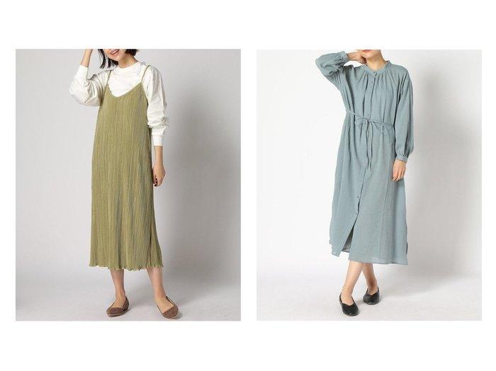 【GLOBAL WORK/グローバルワーク】のランダムプリーツキャミOP&ヨウリュウバンドカラーOP 【プチプライス】おすすめ!人気トレンド・ファッション通販 おすすめファッション通販アイテム レディースファッション・服の通販 founy(ファニー) ファッション Fashion レディースファッション WOMEN ワンピース Dress キャミワンピース No Sleeve Dresses おすすめ Recommend インナー キャミワンピース シンプル プリーツ リボン デニム 再入荷 Restock/Back in Stock/Re Arrival 羽織 長袖 |ID:crp329100000036290