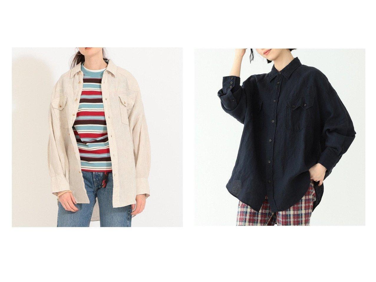 【BEAMS BOY/ビームス ボーイ】のリネン ウエスタン シャツ おすすめ!人気、トレンド・レディースファッションの通販  おすすめで人気の流行・トレンド、ファッションの通販商品 メンズファッション・キッズファッション・インテリア・家具・レディースファッション・服の通販 founy(ファニー) https://founy.com/ ファッション Fashion レディースファッション WOMEN トップス・カットソー Tops/Tshirt シャツ/ブラウス Shirts/Blouses ウエスタン リネン リラックス 羽織 長袖 |ID:crp329100000036443