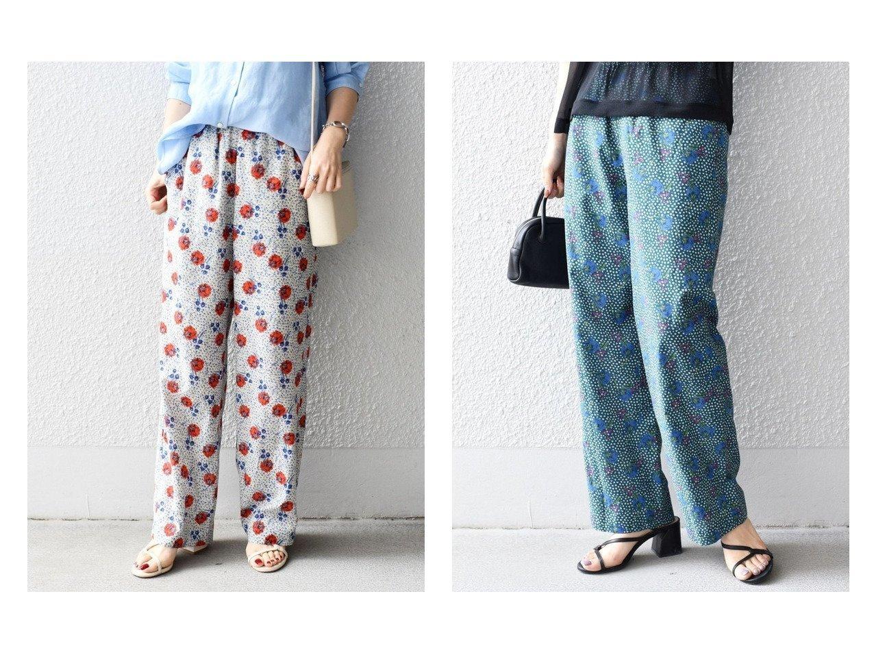 【SHIPS/シップス フォー ウィメン】の【SHIPS別注】LIBERTY フラワープリントパンツ おすすめ!人気、トレンド・レディースファッションの通販  おすすめで人気の流行・トレンド、ファッションの通販商品 メンズファッション・キッズファッション・インテリア・家具・レディースファッション・服の通販 founy(ファニー) https://founy.com/ ファッション Fashion レディースファッション WOMEN パンツ Pants カラフル シンプル ジーンズ ベーシック ボトム 別注 春 Spring |ID:crp329100000036450