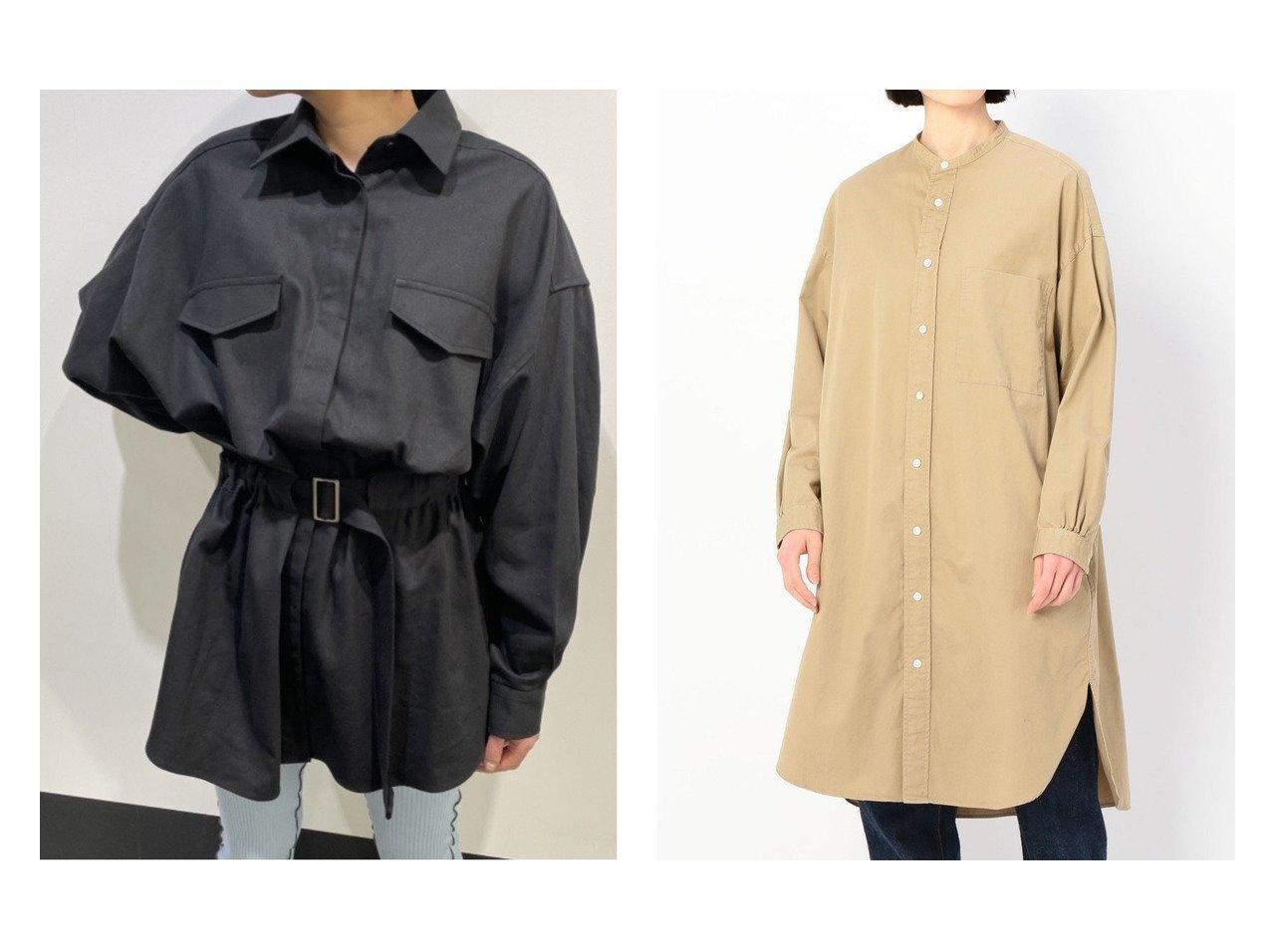 【Bshop/ビショップ】の【Gymphlex】バンドカラーワンピース VTW WOMEN&【WhipStaff/ホイップスタッフ】のbelted big shirts おすすめ!人気、トレンド・レディースファッションの通販  おすすめで人気の流行・トレンド、ファッションの通販商品 メンズファッション・キッズファッション・インテリア・家具・レディースファッション・服の通販 founy(ファニー) https://founy.com/ ファッション Fashion レディースファッション WOMEN トップス・カットソー Tops/Tshirt シャツ/ブラウス Shirts/Blouses ワンピース Dress シャツワンピース Shirt Dresses おすすめ Recommend バランス ビッグ フラップ ポケット ストライプ ドレス リネン 無地 羽織 |ID:crp329100000036455