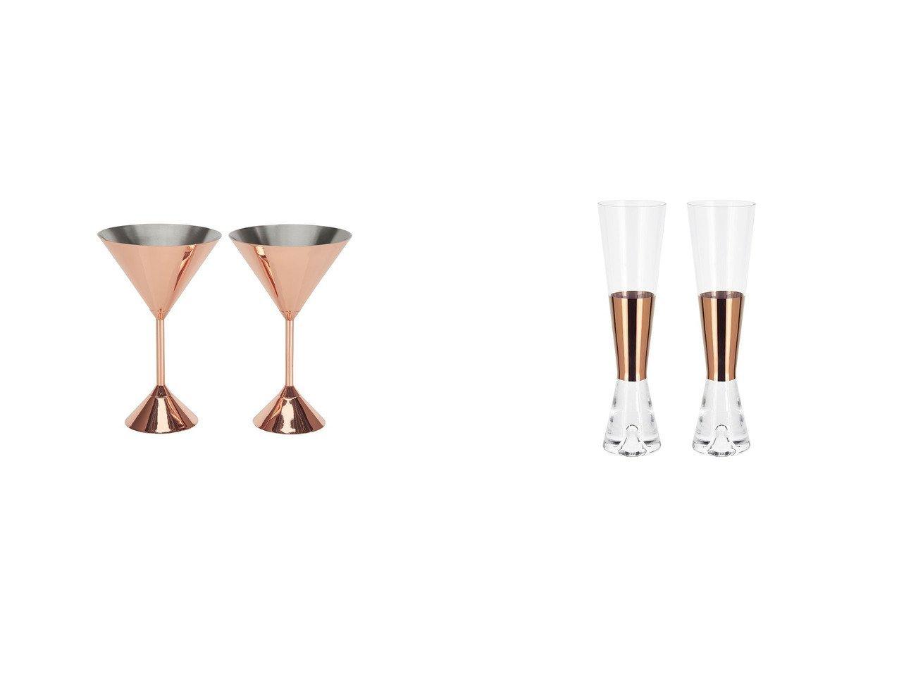 【Tom Dixon/トム ディクソン】のプラム マティーニグラス 2脚セット&Tank Champagne Glasses × タンク シャンパングラス 2脚セット(コッパー) 【FURNITURE】おすすめ!人気、インテリア・家具の通販 おすすめで人気の流行・トレンド、ファッションの通販商品 メンズファッション・キッズファッション・インテリア・家具・レディースファッション・服の通販 founy(ファニー) https://founy.com/ 送料無料 Free Shipping グラス タンブラー テーブル ガラス コレクション タンク 手描き  ID:crp329100000036589