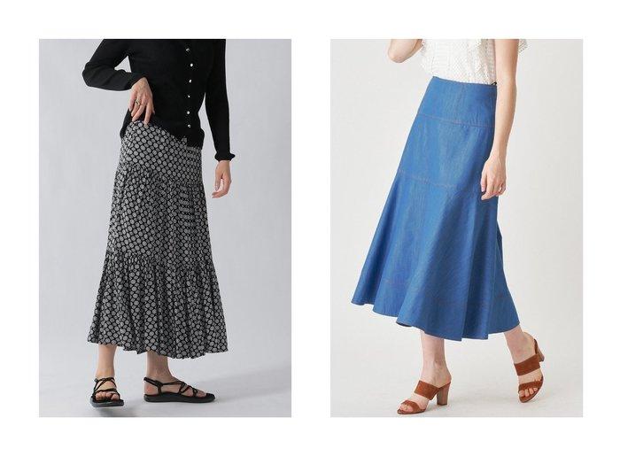 【ANAYI/アナイ】のデニムチョウロング スカート&【Ezick/エジック】の刺繍ティアードスカート 【スカート】おすすめ!人気、トレンド・レディースファッションの通販 おすすめファッション通販アイテム レディースファッション・服の通販 founy(ファニー) ファッション Fashion レディースファッション WOMEN スカート Skirt ロングスカート Long Skirt ティアードスカート Tiered Skirts シャンブレー デニム フレア ロング |ID:crp329100000036699
