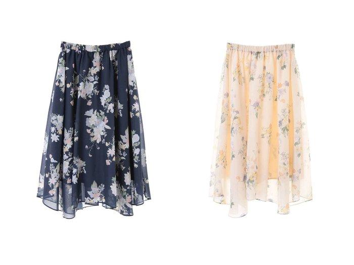 【31 Sons de mode/トランテアン ソン ドゥ モード】の花柄イレヘムスカート 【スカート】おすすめ!人気、トレンド・レディースファッションの通販 おすすめファッション通販アイテム レディースファッション・服の通販 founy(ファニー) ファッション Fashion レディースファッション WOMEN スカート Skirt Aライン/フレアスカート Flared A-Line Skirts NEW・新作・新着・新入荷 New Arrivals 2021年 2021 2021春夏・S/S SS/Spring/Summer/2021 S/S・春夏 SS・Spring/Summer ギャザー シアー フラワー フレア プリント |ID:crp329100000036702