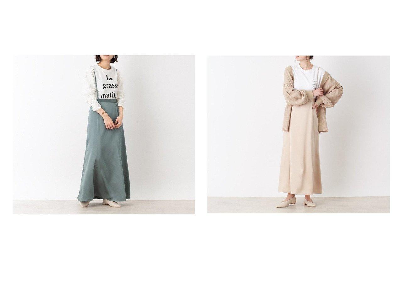 【Rouge vif la cle/ルージュヴィフラクレ】のサスペンダー付きマーメイドスカート 【スカート】おすすめ!人気、トレンド・レディースファッションの通販 おすすめで人気の流行・トレンド、ファッションの通販商品 メンズファッション・キッズファッション・インテリア・家具・レディースファッション・服の通販 founy(ファニー) https://founy.com/ ファッション Fashion レディースファッション WOMEN スカート Skirt ロングスカート Long Skirt カットソー サスペンダー サテン スウェット マーメイド ロング |ID:crp329100000036714