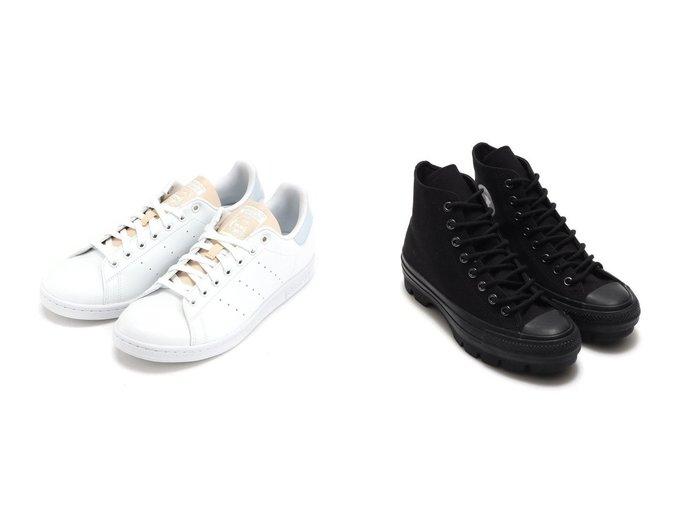 【CONVERSE/コンバース】のCONVERSE ALL STAR 100 CB CHUNK HI&【adidas Originals/アディダス オリジナルス】のスタンスミス STAN SMITH アディダスオリジナルス GV7376 【シューズ・靴】おすすめ!人気、トレンド・レディースファッションの通販 おすすめ人気トレンドファッション通販アイテム 人気、トレンドファッション・服の通販 founy(ファニー) ファッション Fashion レディースファッション WOMEN アンクル キャンバス シューズ スニーカー スリッポン パッチ クラシック シンプル スポーツ 定番 Standard ミックス NEW・新作・新着・新入荷 New Arrivals |ID:crp329100000036730