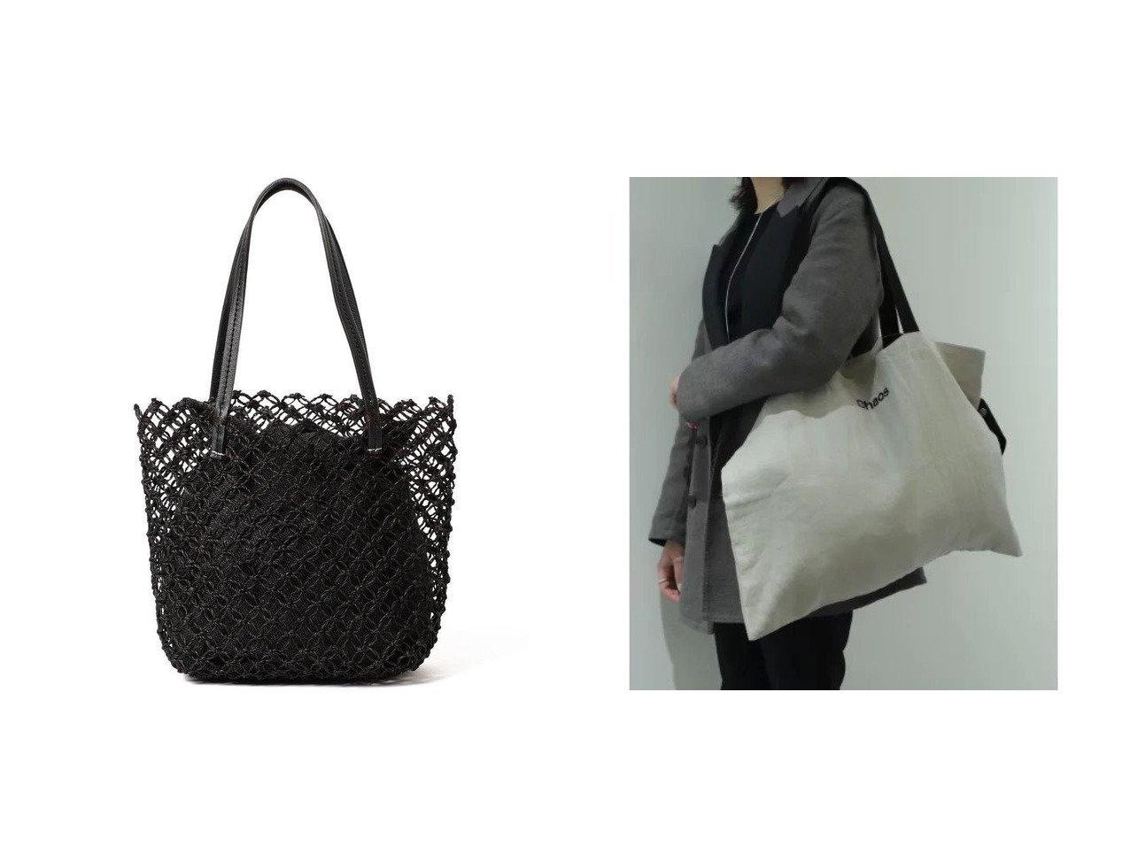 【Demi-Luxe BEAMS/デミルクス ビームス】のレース編み トートバッグ&【Chaos/カオス】のChaos ECOBAG 【バッグ・鞄】おすすめ!人気、トレンド・レディースファッションの通販 おすすめで人気の流行・トレンド、ファッションの通販商品 メンズファッション・キッズファッション・インテリア・家具・レディースファッション・服の通販 founy(ファニー) https://founy.com/ ファッション Fashion レディースファッション WOMEN バッグ Bag クラシック スクエア フォルム モダン レース 再入荷 Restock/Back in Stock/Re Arrival 巾着 コンパクト リネン |ID:crp329100000036740