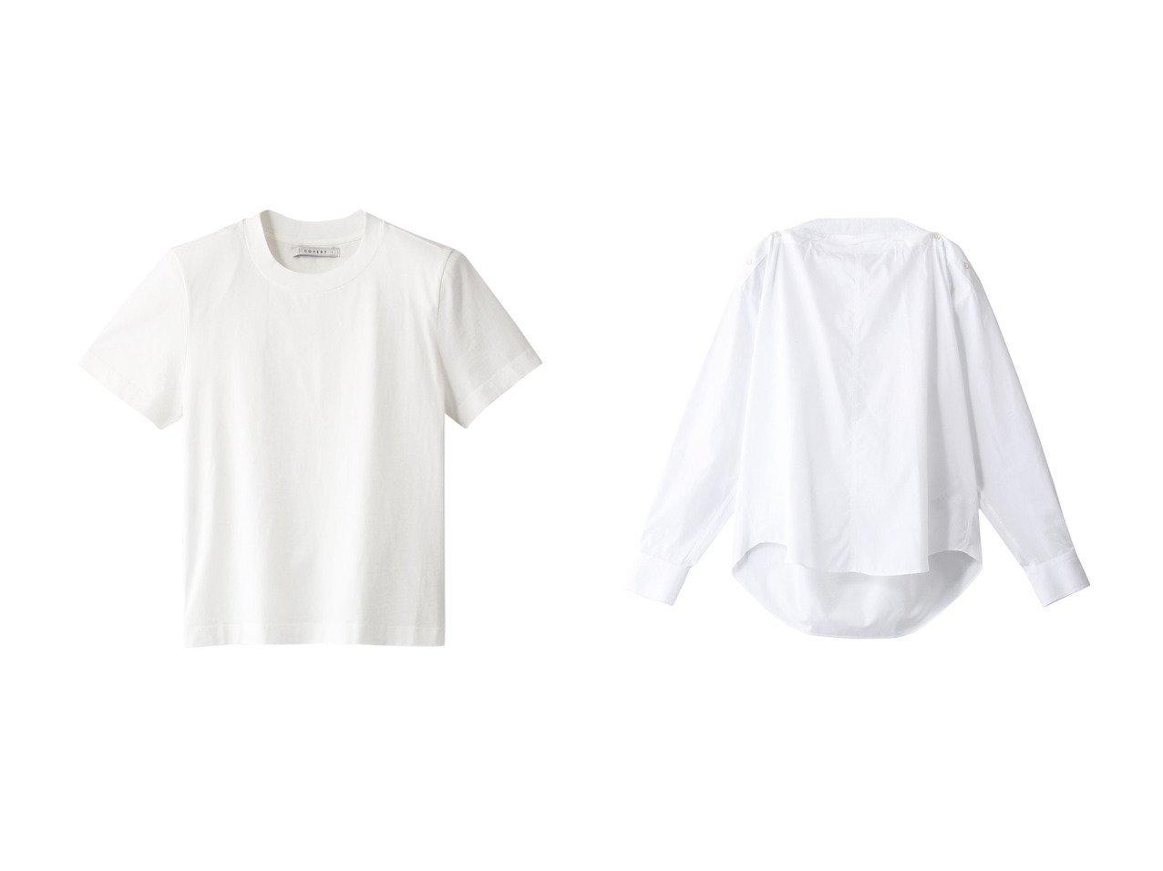 【THIRD MAGAZINE/サードマガジン】の【COVERT】コットンブラウス&【COVERT】クルーネックTシャツ 【トップス・カットソー】おすすめ!人気、トレンド・レディースファッションの通販 おすすめで人気の流行・トレンド、ファッションの通販商品 メンズファッション・キッズファッション・インテリア・家具・レディースファッション・服の通販 founy(ファニー) https://founy.com/ ファッション Fashion レディースファッション WOMEN トップス・カットソー Tops/Tshirt シャツ/ブラウス Shirts/Blouses ロング / Tシャツ T-Shirts カットソー Cut and Sewn イタリア ショート シンプル スリーブ ショルダー フォルム ボトム ロング  ID:crp329100000036790