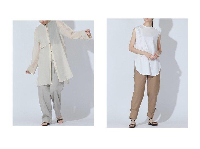 【ESSEN LAUTREAMONT/エッセン ロートレアモン】のガスボイルオーガンジーブラウス&SOPHIAカットソー 【トップス・カットソー】おすすめ!人気、トレンド・レディースファッションの通販 おすすめ人気トレンドファッション通販アイテム 人気、トレンドファッション・服の通販 founy(ファニー) ファッション Fashion レディースファッション WOMEN トップス・カットソー Tops/Tshirt シャツ/ブラウス Shirts/Blouses ロング / Tシャツ T-Shirts カットソー Cut and Sewn シアー スリーブ トレンド ロング インナー カッティング カットソー コンパクト サマー ショート ジャージ タンク フレンチ 人気  ID:crp329100000036792