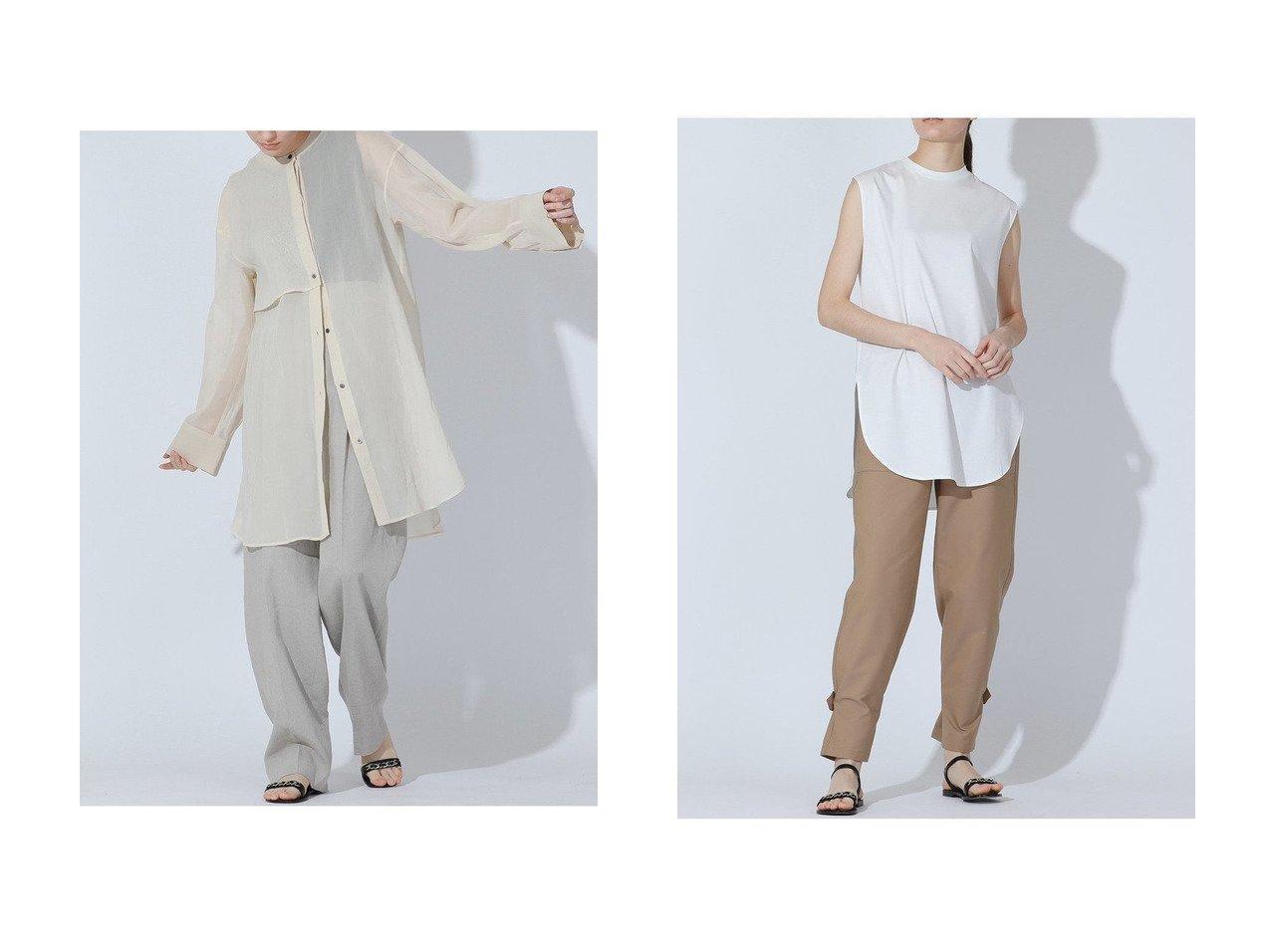 【ESSEN LAUTREAMONT/エッセン ロートレアモン】のガスボイルオーガンジーブラウス&SOPHIAカットソー 【トップス・カットソー】おすすめ!人気、トレンド・レディースファッションの通販 おすすめで人気の流行・トレンド、ファッションの通販商品 メンズファッション・キッズファッション・インテリア・家具・レディースファッション・服の通販 founy(ファニー) https://founy.com/ ファッション Fashion レディースファッション WOMEN トップス・カットソー Tops/Tshirt シャツ/ブラウス Shirts/Blouses ロング / Tシャツ T-Shirts カットソー Cut and Sewn シアー スリーブ トレンド ロング インナー カッティング カットソー コンパクト サマー ショート ジャージ タンク フレンチ 人気  ID:crp329100000036792