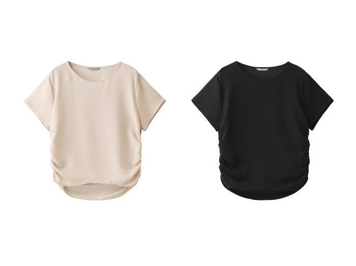 【PLAIN PEOPLE/プレインピープル】のバックサテンクレープギャザープルオーバーブラウス 【トップス・カットソー】おすすめ!人気、トレンド・レディースファッションの通販 おすすめファッション通販アイテム レディースファッション・服の通販 founy(ファニー) ファッション Fashion レディースファッション WOMEN トップス・カットソー Tops/Tshirt シャツ/ブラウス Shirts/Blouses プルオーバー Pullover バッグ Bag S/S・春夏 SS・Spring/Summer なめらか サテン スリーブ ロング 春 Spring  ID:crp329100000036798