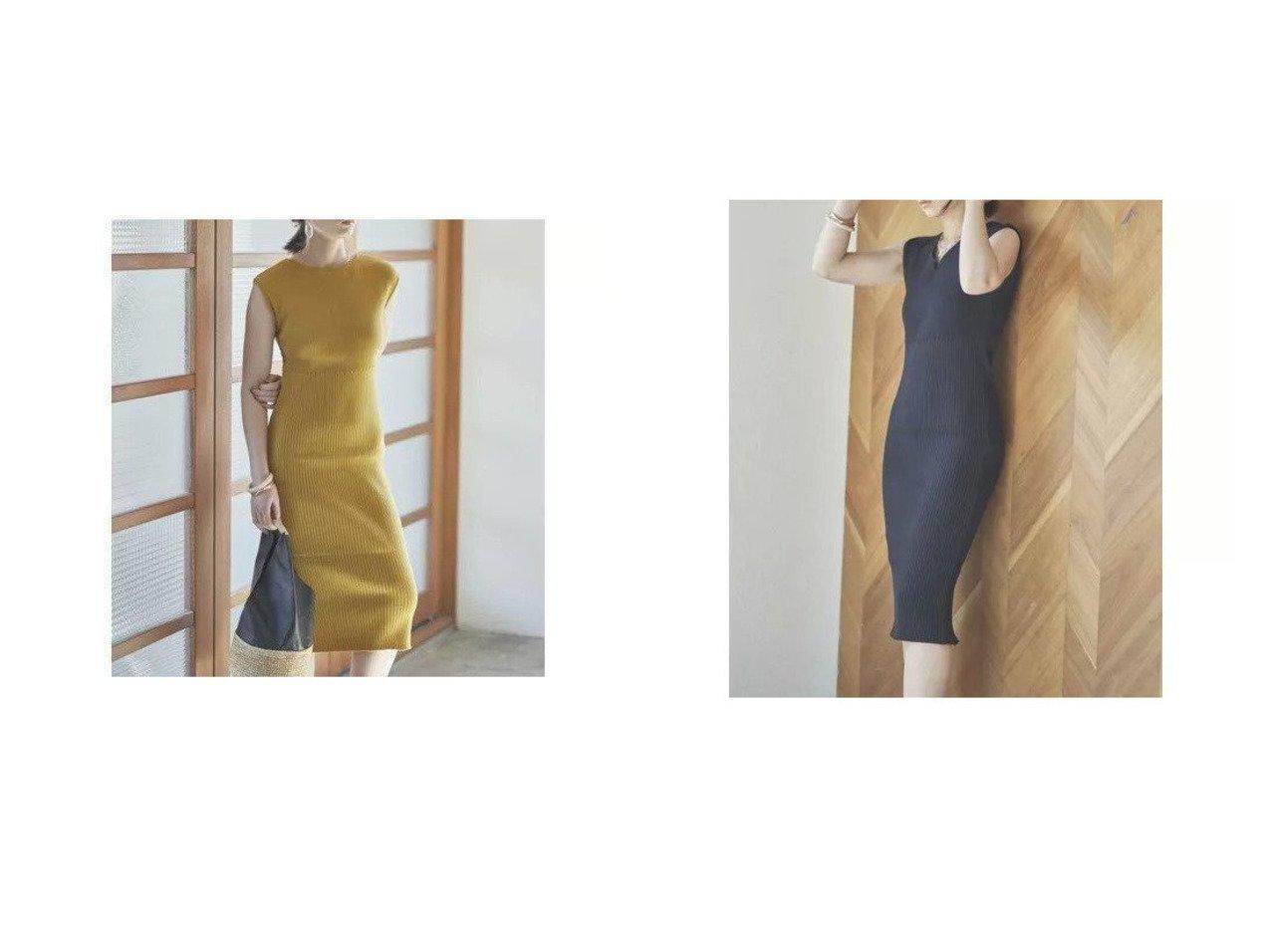 【DRWCYS/ドロシーズ】の2wayリブニットワンピース おすすめ!人気、トレンド・レディースファッションの通販   おすすめで人気の流行・トレンド、ファッションの通販商品 メンズファッション・キッズファッション・インテリア・家具・レディースファッション・服の通販 founy(ファニー) https://founy.com/ ファッション Fashion レディースファッション WOMEN ワンピース Dress ニットワンピース Knit Dresses ノースリーブ ラウンド リネン |ID:crp329100000036855
