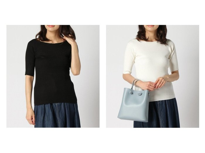 【Bab/バブ】の【EC】半袖リブニットTOPS おすすめ!人気、トレンド・レディースファッションの通販   おすすめファッション通販アイテム レディースファッション・服の通販 founy(ファニー) ファッション Fashion レディースファッション WOMEN トップス・カットソー Tops/Tshirt ニット Knit Tops おすすめ Recommend インナー リブニット 半袖 |ID:crp329100000036870
