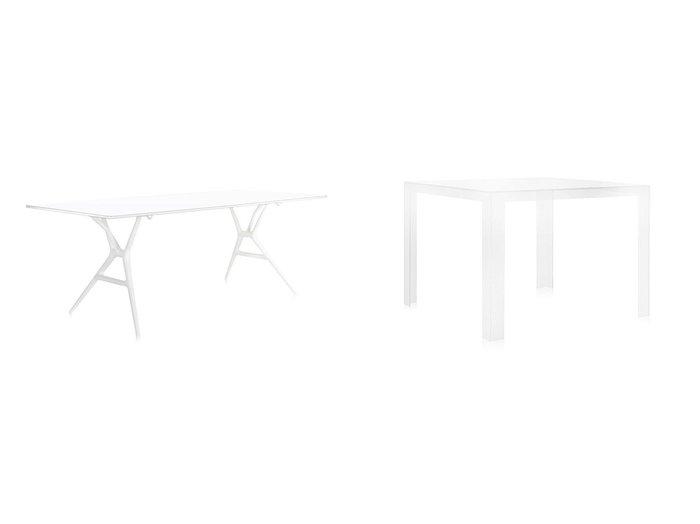 【Kartell/カルテル】のインビジブルテーブル&スプーンテーブル 200 【FURNITURE】おすすめ!人気、インテリア・家具の通販 おすすめ人気トレンドファッション通販アイテム インテリア・キッズ・メンズ・レディースファッション・服の通販 founy(ファニー) https://founy.com/ テーブル ホーム・キャンプ・アウトドア Home,Garden,Outdoor,Camping Gear 家具・インテリア Furniture テーブル Table 折りたたみテーブル・伸縮テーブル ホーム・キャンプ・アウトドア Home,Garden,Outdoor,Camping Gear 家具・インテリア Furniture テーブル Table ダイニングテーブル  ID:crp329100000036993
