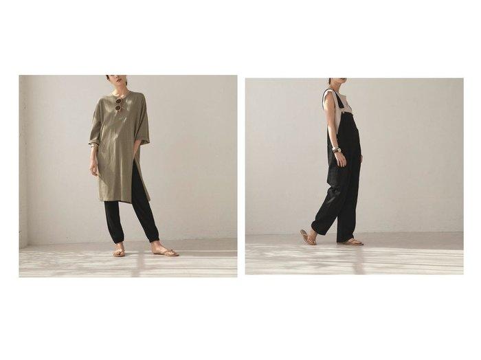 【marjour/マージュール】のツイルサロペット TWILL SALOPETTO&スリットTEEワンピース SLIT TEE ONEPIECE おすすめ!人気、トレンド・レディースファッションの通販 おすすめファッション通販アイテム レディースファッション・服の通販 founy(ファニー) ファッション Fashion レディースファッション WOMEN ワンピース Dress サロペット Salopette おすすめ Recommend アンクル スリット ボトム ワイド サロペット ストレッチ ツイル ノースリーブ フリル ボーダー ラップ |ID:crp329100000037032