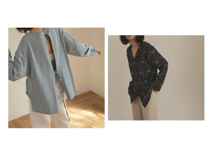 【marjour/マージュール】のバックスリットTEE BACK SLIT TEE&OPEN COLOR BLOUSE おすすめ!人気、トレンド・レディースファッションの通販 おすすめファッション通販アイテム インテリア・キッズ・メンズ・レディースファッション・服の通販 founy(ファニー) https://founy.com/ ファッション Fashion レディースファッション WOMEN バッグ Bag インナー キャミソール スリット タンク ボトム リボン おすすめ Recommend ジャケット スキニー ストレート ドット バランス マニッシュ モノトーン ランダム ワイド 冬 Winter 秋 Autumn/Fall |ID:crp329100000037033