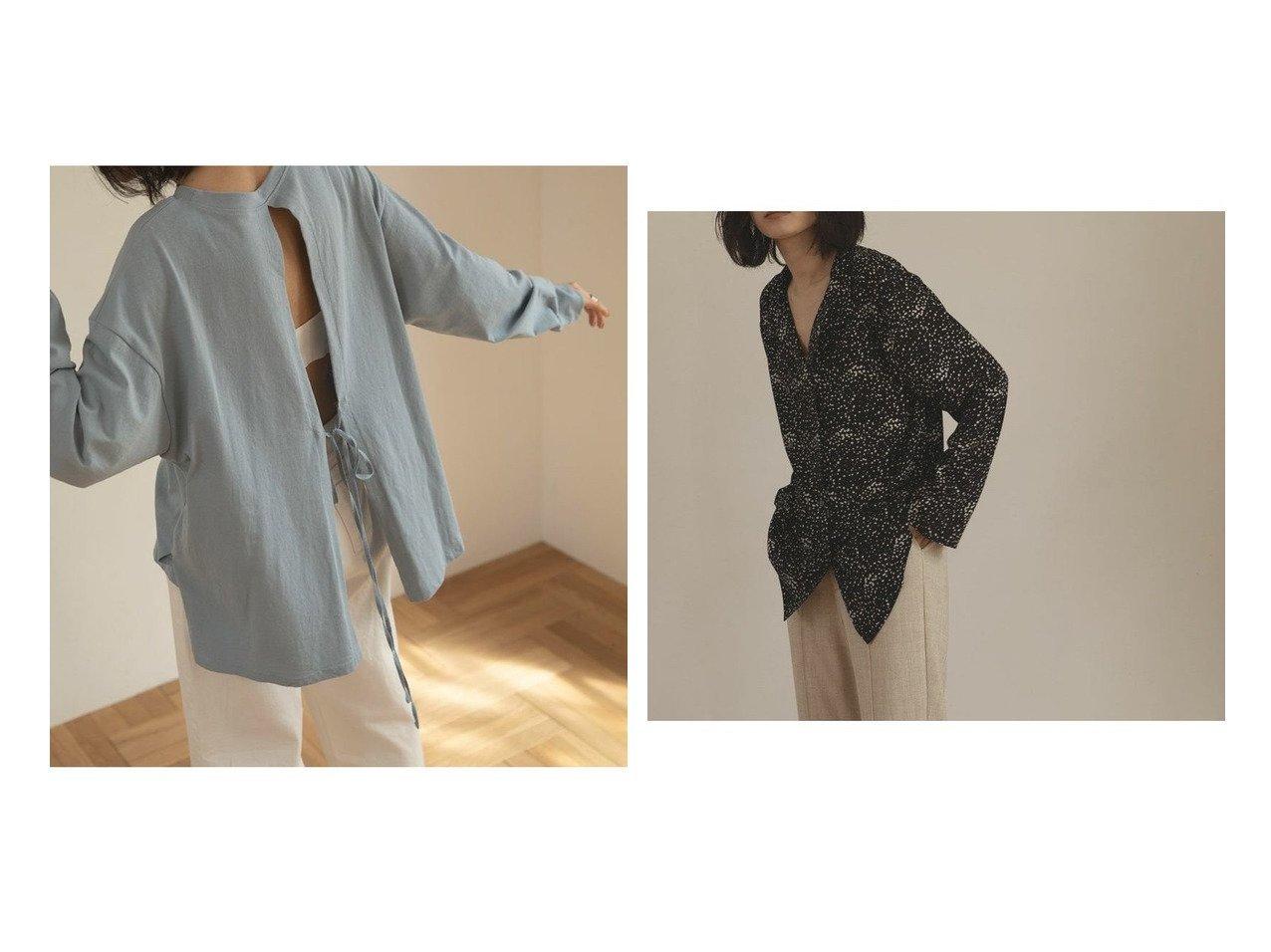 【marjour/マージュール】のバックスリットTEE BACK SLIT TEE&OPEN COLOR BLOUSE おすすめ!人気、トレンド・レディースファッションの通販 おすすめで人気の流行・トレンド、ファッションの通販商品 メンズファッション・キッズファッション・インテリア・家具・レディースファッション・服の通販 founy(ファニー) https://founy.com/ ファッション Fashion レディースファッション WOMEN バッグ Bag インナー キャミソール スリット タンク ボトム リボン おすすめ Recommend ジャケット スキニー ストレート ドット バランス マニッシュ モノトーン ランダム ワイド 冬 Winter 秋 Autumn/Fall |ID:crp329100000037033