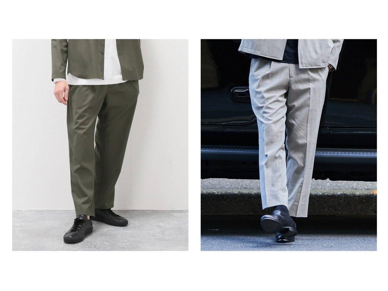 【EDIFICE / MEN/エディフィス】の【BEGIN掲載】SOLOTEX Easy Pants&【BEGIN掲載】SOLOTEX CHECK イージーパンツ ファッション雑誌掲載 おすすめ!人気トレンド・男性、メンズファッションの通販 おすすめファッション通販アイテム インテリア・キッズ・メンズ・レディースファッション・服の通販 founy(ファニー)  ファッション Fashion メンズファッション MEN ボトムス Bottoms/Men イタリア ジーンズ ストレッチ テーパード リラックス 軽量 雑誌 シャーリング スラックス チェック バランス フィット グリーン系 Green ベージュ系 Beige  ID:crp329100000037221