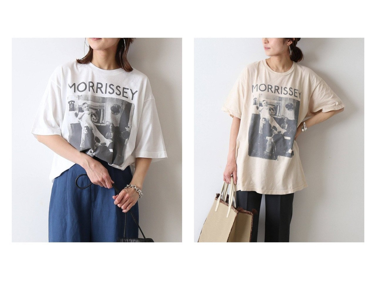 【FRAMeWORK/フレームワーク】の【THRIFTY LOOK】MORRISSEY Tシャツ(ホワイト)&【THRIFTY LOOK】 MORRISSEY Tシャツ(ベージュ) 別注・限定・コラボなど、おすすめ!人気トレンド・レディースファッション通販 おすすめファッション通販アイテム インテリア・キッズ・メンズ・レディースファッション・服の通販 founy(ファニー)  ファッション Fashion レディースファッション WOMEN トップス・カットソー Tops/Tshirt シャツ/ブラウス Shirts/Blouses ロング / Tシャツ T-Shirts カットソー Cut and Sewn ヴィンテージ カットソー 別注 2021年 2021 S/S・春夏 SS・Spring/Summer 2021春夏・S/S SS/Spring/Summer/2021 NEW・新作・新着・新入荷 New Arrivals ホワイト系 White ベージュ系 Beige |ID:crp329100000037342