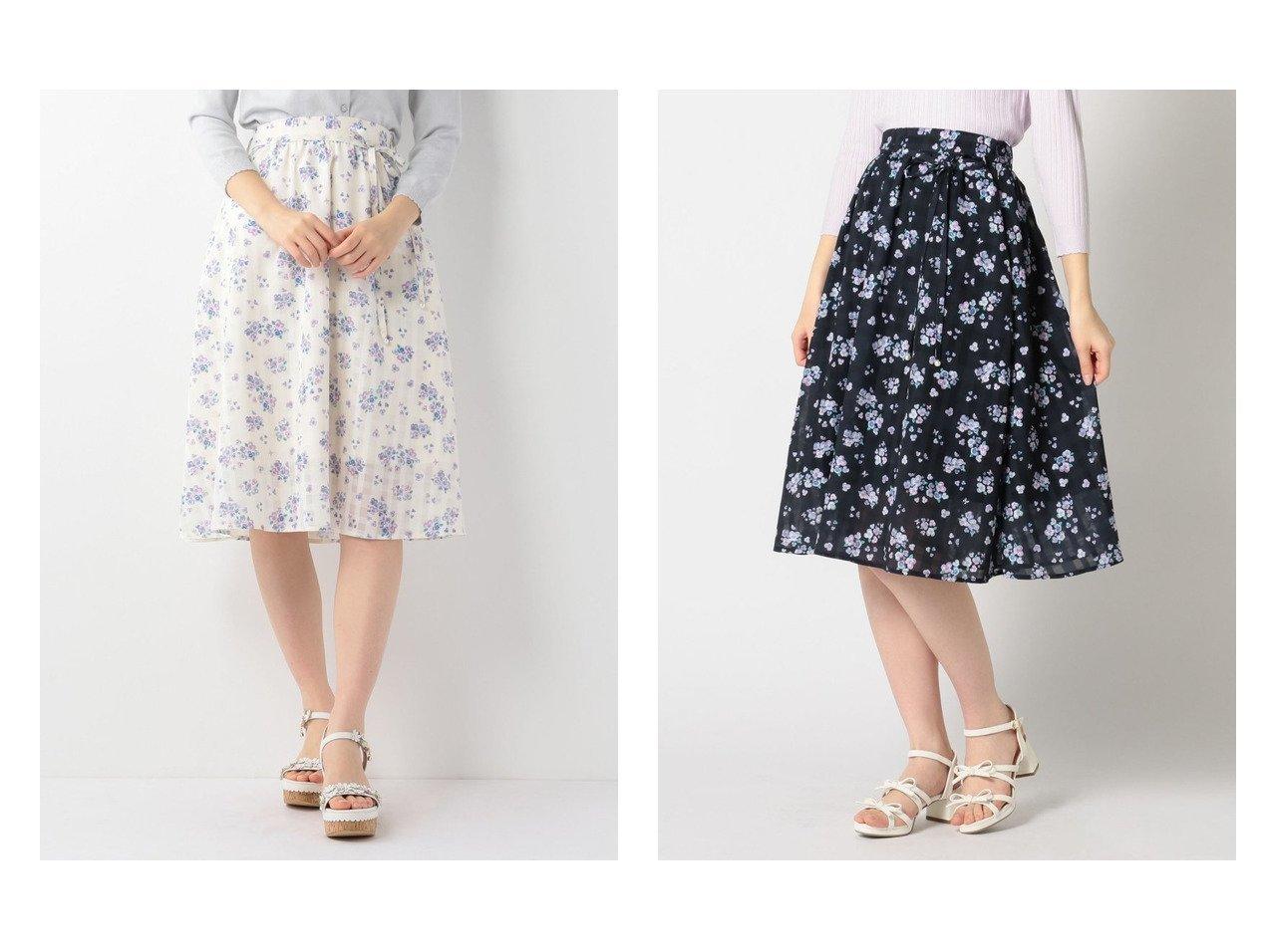 【LODISPOTTO/ロディスポット】のSweet Pansyフレアスカート 【スカート】おすすめ!人気、トレンド・レディースファッションの通販 おすすめファッション通販アイテム インテリア・キッズ・メンズ・レディースファッション・服の通販 founy(ファニー)  ファッション Fashion レディースファッション WOMEN スカート Skirt Aライン/フレアスカート Flared A-Line Skirts フレア フレアースカート リボン イエロー系 Yellow ブルー系 Blue |ID:crp329100000037624