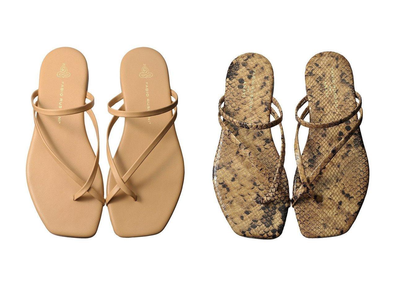 【FABIO RUSCONI/ファビオ ルスコーニ】のトングストラップサンダル 【シューズ・靴】おすすめ!人気、トレンド・レディースファッションの通販 おすすめファッション通販アイテム インテリア・キッズ・メンズ・レディースファッション・服の通販 founy(ファニー)  ファッション Fashion レディースファッション WOMEN S/S・春夏 SS・Spring/Summer サンダル リゾート 再入荷 Restock/Back in Stock/Re Arrival 春 Spring ベージュ系 Beige ブラウン系 Brown |ID:crp329100000037630