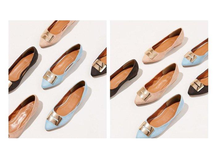 【nano universe/ナノ ユニバース】のメタルフラットパンプス 【シューズ・靴】おすすめ!人気、トレンド・レディースファッションの通販 おすすめ人気トレンドファッション通販アイテム 人気、トレンドファッション・服の通販 founy(ファニー) ファッション Fashion レディースファッション WOMEN アーモンドトゥ インソール エレガント クッション シューズ スクエア フェイクスエード フォルム フラット メタル モチーフ |ID:crp329100000037632
