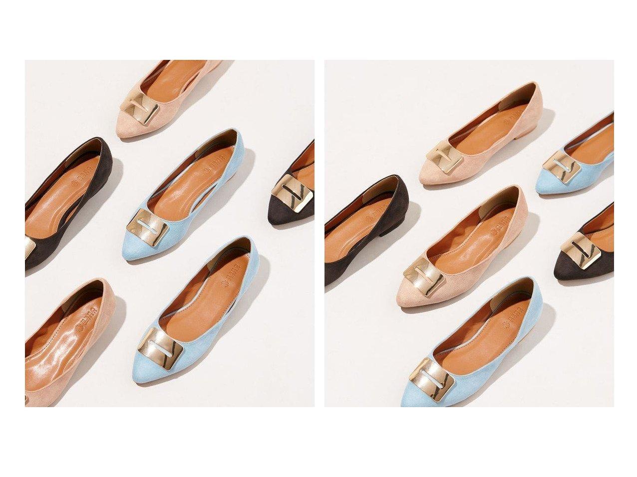 【nano universe/ナノ ユニバース】のメタルフラットパンプス 【シューズ・靴】おすすめ!人気、トレンド・レディースファッションの通販 おすすめファッション通販アイテム インテリア・キッズ・メンズ・レディースファッション・服の通販 founy(ファニー)  ファッション Fashion レディースファッション WOMEN アーモンドトゥ インソール エレガント クッション シューズ スクエア フェイクスエード フォルム フラット メタル モチーフ ブルー系 Blue ベージュ系 Beige レッド系 Red ブラック系 Black |ID:crp329100000037632