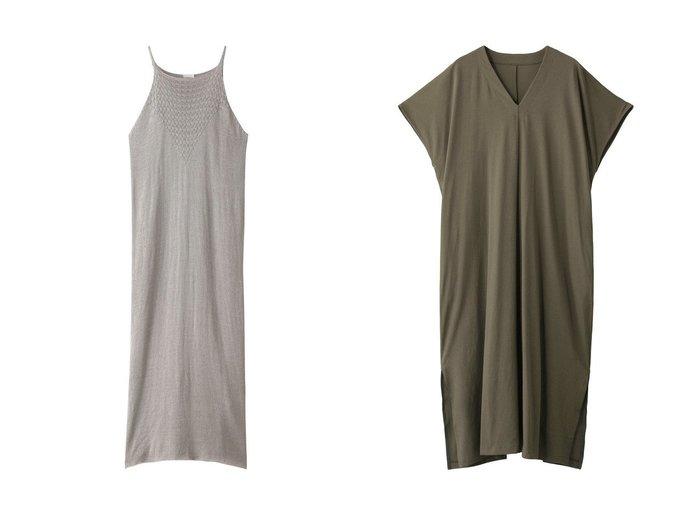 【Chaos/カオス】のSEEALL KNIT ドレス&【HOUSE OF LOTUS/ハウス オブ ロータス】のドライ天竺バックタックワンピース 【ワンピース・ドレス】おすすめ!人気、トレンド・レディースファッションの通販 おすすめファッション通販アイテム レディースファッション・服の通販 founy(ファニー) ファッション Fashion レディースファッション WOMEN ワンピース Dress ドレス Party Dresses S/S・春夏 SS・Spring/Summer ドレス 春 Spring おすすめ Recommend インナー デコルテ ベーシック レギンス ロング |ID:crp329100000037673