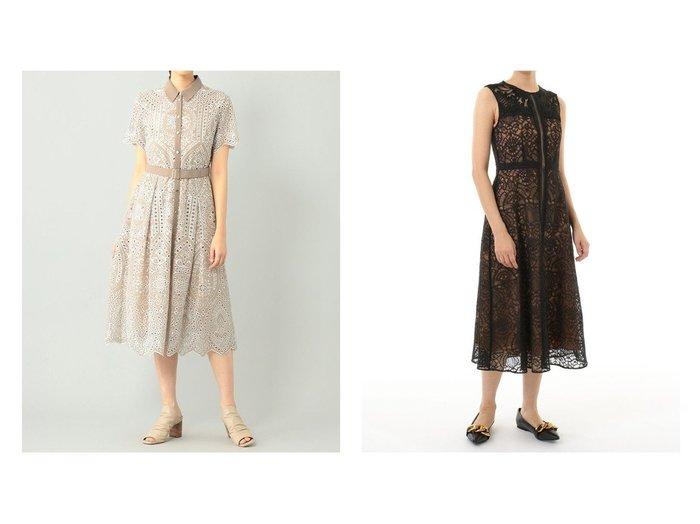 【GRACE CONTINENTAL/グレース コンチネンタル】のレースコンビラインドレス&ジョーゼットカットワークワンピース 【ワンピース・ドレス】おすすめ!人気、トレンド・レディースファッションの通販 おすすめファッション通販アイテム レディースファッション・服の通販 founy(ファニー) ファッション Fashion レディースファッション WOMEN ワンピース Dress ドレス Party Dresses NEW・新作・新着・新入荷 New Arrivals スカラップ フォーマル ワーク |ID:crp329100000037701