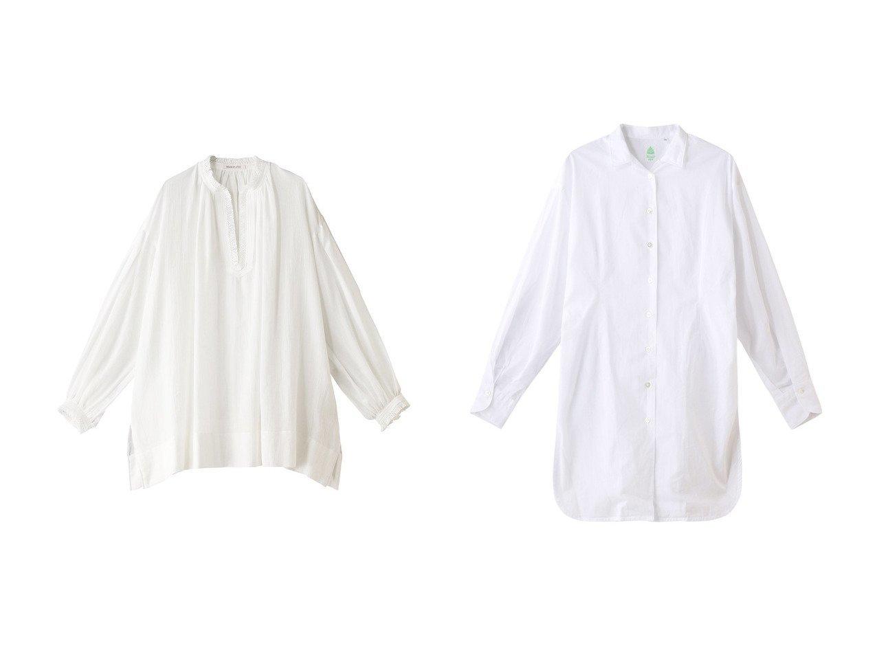 【Chaos/カオス】の【Finamore】 GISELLEシャツ&【HOUSE OF LOTUS/ハウス オブ ロータス】のフリンジペザントブラウス 【トップス・カットソー】おすすめ!人気、トレンド・レディースファッションの通販 おすすめファッション通販アイテム インテリア・キッズ・メンズ・レディースファッション・服の通販 founy(ファニー)  ファッション Fashion レディースファッション WOMEN トップス・カットソー Tops/Tshirt シャツ/ブラウス Shirts/Blouses スリット スリーブ チュニック フリンジ ロング ホワイト系 White ブルー系 Blue グレー系 Gray |ID:crp329100000037711