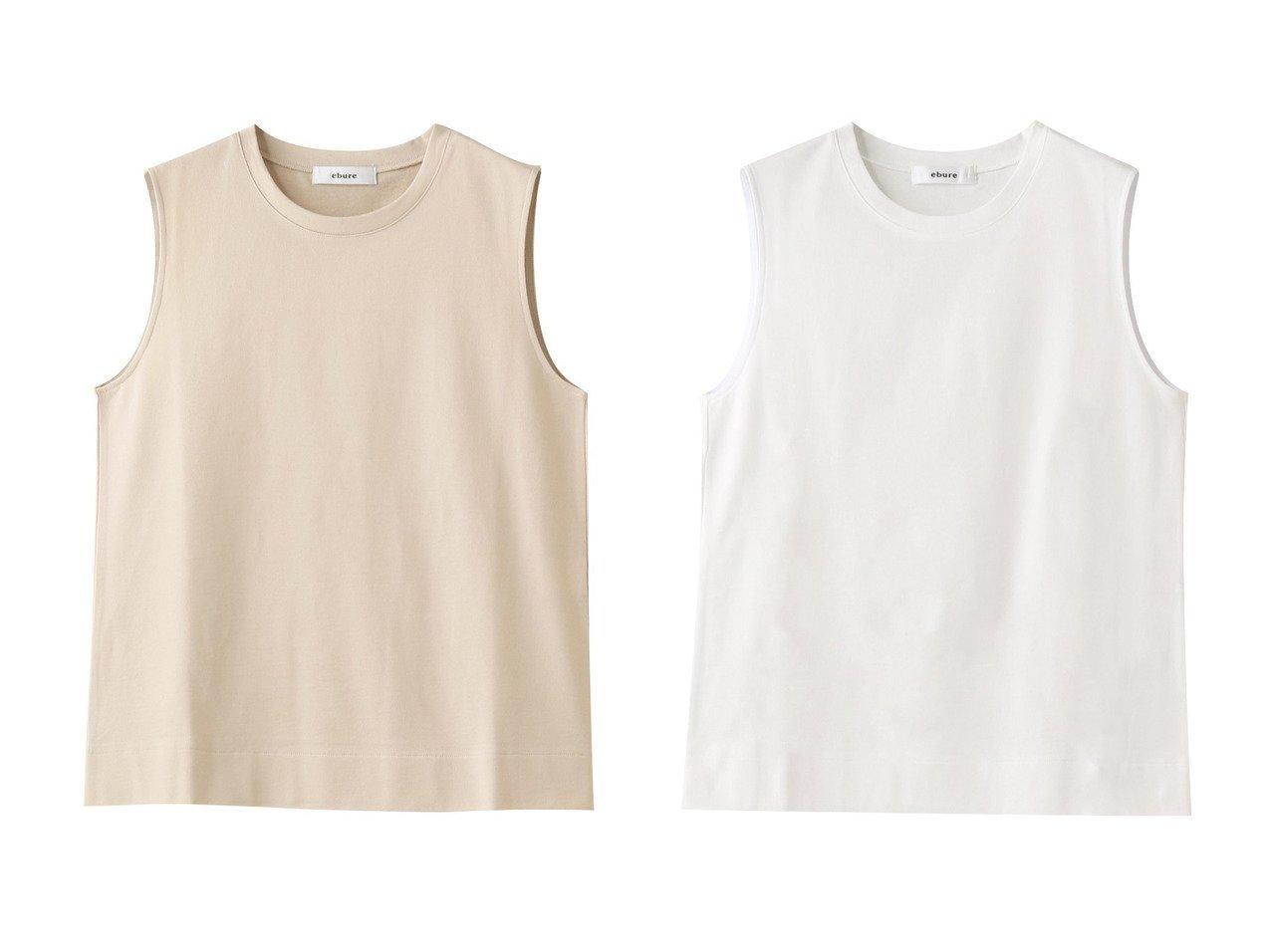 【ebure/エブール】のクールミニパイル ノースリーブカットソー 【トップス・カットソー】おすすめ!人気、トレンド・レディースファッションの通販 おすすめファッション通販アイテム インテリア・キッズ・メンズ・レディースファッション・服の通販 founy(ファニー)  ファッション Fashion レディースファッション WOMEN トップス・カットソー Tops/Tshirt キャミソール / ノースリーブ No Sleeves シャツ/ブラウス Shirts/Blouses ロング / Tシャツ T-Shirts カットソー Cut and Sewn カットソー キャミソール シルケット タンク フォルム ベーシック ホワイト系 White イエロー系 Yellow ブラック系 Black |ID:crp329100000037718