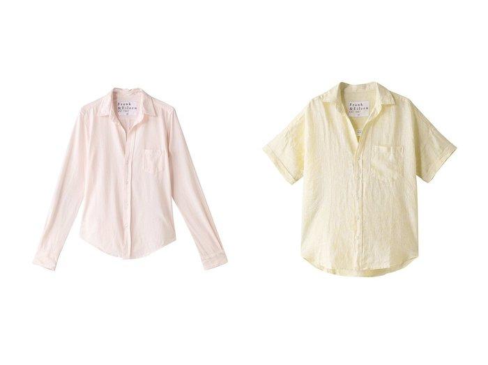 【Frank&Eileen/フランク&アイリーン】の【tee lab】LUXE JERSEY BARRY コットンシャツ&ROSE イエローリネン ハーフスリーブシャツ 【トップス・カットソー】おすすめ!人気、トレンド・レディースファッションの通販 おすすめファッション通販アイテム レディースファッション・服の通販 founy(ファニー) ファッション Fashion レディースファッション WOMEN トップス・カットソー Tops/Tshirt シャツ/ブラウス Shirts/Blouses シンプル ジャージ スリーブ ロング 長袖 S/S・春夏 SS・Spring/Summer イエロー ショート リネン 半袖 春 Spring |ID:crp329100000037723