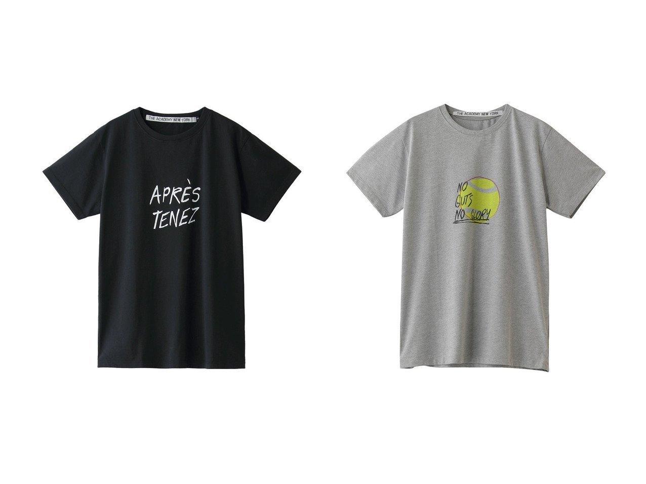 【GALLARDAGALANTE/ガリャルダガランテ】の【THE ACADEMY NEW YORK】イラストTシャツ&【THE ACADEMY NEW YORK】Tシャツ/Apres Tenez 【トップス・カットソー】おすすめ!人気、トレンド・レディースファッションの通販 おすすめで人気の流行・トレンド、ファッションの通販商品 メンズファッション・キッズファッション・インテリア・家具・レディースファッション・服の通販 founy(ファニー) https://founy.com/ ファッション Fashion レディースファッション WOMEN トップス・カットソー Tops/Tshirt シャツ/ブラウス Shirts/Blouses ロング / Tシャツ T-Shirts カットソー Cut and Sewn ショート シンプル スリーブ 半袖 |ID:crp329100000037731