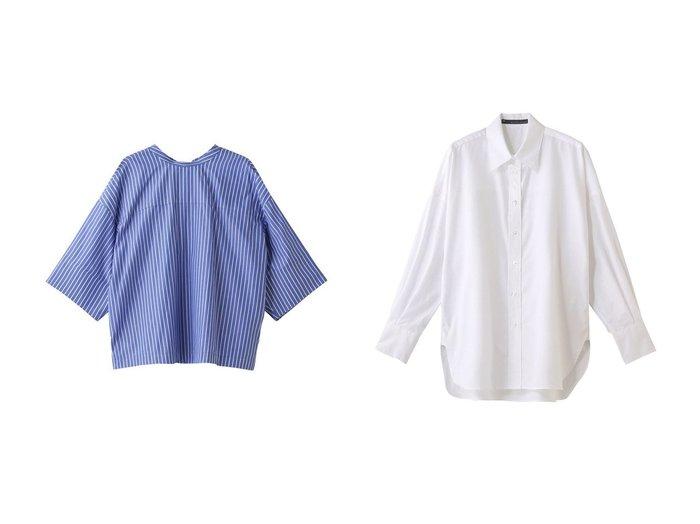 【martinique/マルティニーク】のハーフスリーブ2wayコットンシャツ&ロングスリーブコットンシャツ 【トップス・カットソー】おすすめ!人気、トレンド・レディースファッションの通販 おすすめファッション通販アイテム レディースファッション・服の通販 founy(ファニー)  ファッション Fashion レディースファッション WOMEN トップス・カットソー Tops/Tshirt シャツ/ブラウス Shirts/Blouses S/S・春夏 SS・Spring/Summer ショート シンプル スリーブ ハーフ ボックス リボン 半袖 春 Spring スリット ロング ワーク |ID:crp329100000037749