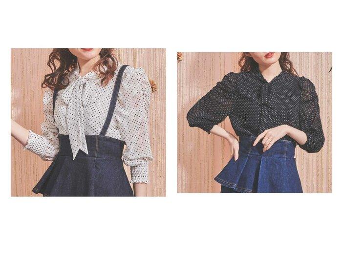 【Noela/ノエラ】のボウタイブラウス 【トップス・カットソー】おすすめ!人気、トレンド・レディースファッションの通販 おすすめファッション通販アイテム レディースファッション・服の通販 founy(ファニー) ファッション Fashion レディースファッション WOMEN トップス・カットソー Tops/Tshirt シャツ/ブラウス Shirts/Blouses おすすめ Recommend インナー ギャザー シアー ジャケット ドット リボン |ID:crp329100000037791