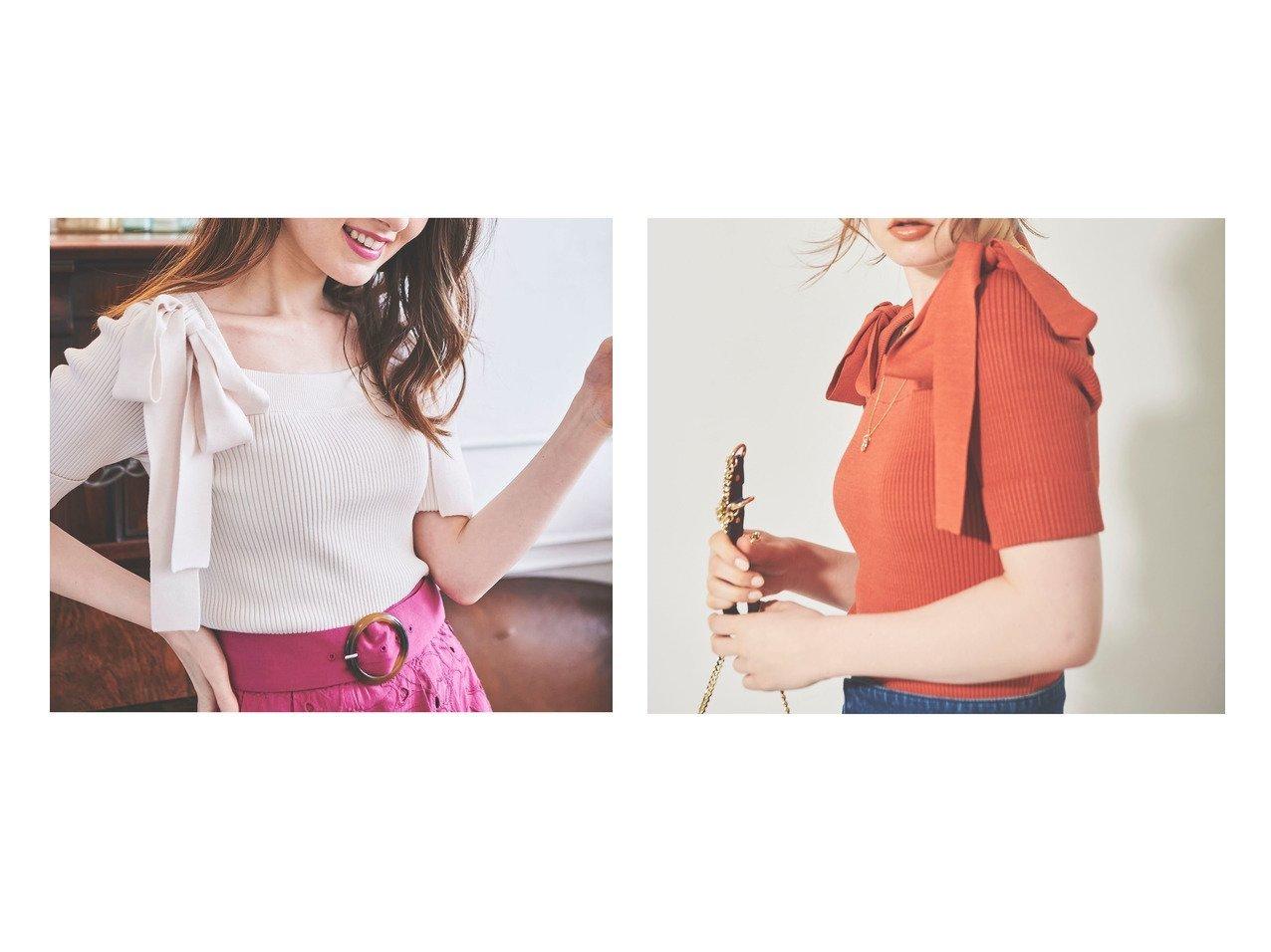 【31 Sons de mode/トランテアン ソン ドゥ モード】の4Gリブショルダーリボンスクエアニット 【トップス・カットソー】おすすめ!人気、トレンド・レディースファッションの通販 おすすめで人気の流行・トレンド、ファッションの通販商品 メンズファッション・キッズファッション・インテリア・家具・レディースファッション・服の通販 founy(ファニー) https://founy.com/ ファッション Fashion レディースファッション WOMEN トップス・カットソー Tops/Tshirt ニット Knit Tops NEW・新作・新着・新入荷 New Arrivals 2021年 2021 2021春夏・S/S SS/Spring/Summer/2021 S/S・春夏 SS・Spring/Summer シンプル スクエア セーター フレア リブニット リボン |ID:crp329100000037811