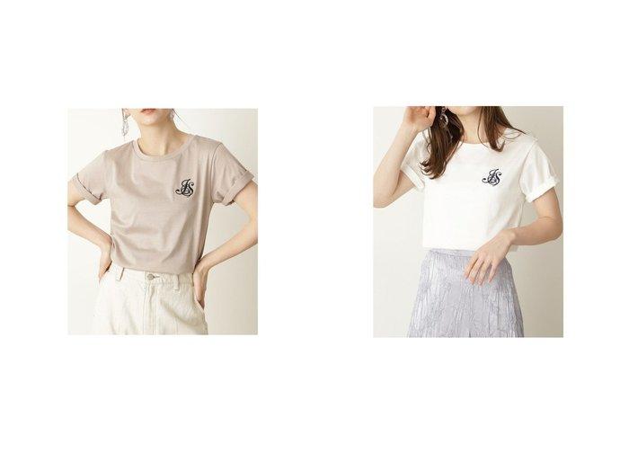 【JILLSTUART/ジルスチュアート】のエンブレムTシャツ CHALK 【トップス・カットソー】おすすめ!人気、トレンド・レディースファッションの通販 おすすめファッション通販アイテム レディースファッション・服の通販 founy(ファニー)  ファッション Fashion レディースファッション WOMEN トップス・カットソー Tops/Tshirt シャツ/ブラウス Shirts/Blouses ロング / Tシャツ T-Shirts 2021年 2021 2021春夏・S/S SS/Spring/Summer/2021 S/S・春夏 SS・Spring/Summer おすすめ Recommend インナー キャミワンピース シンプル スタンダード デニム バランス フェミニン ボトム 春 Spring  ID:crp329100000037829