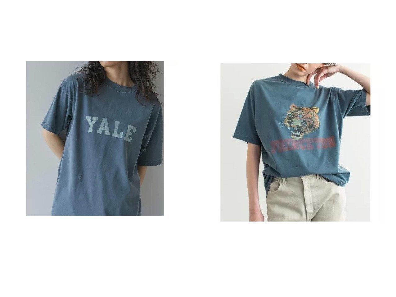 【GALLARDAGALANTE/ガリャルダガランテ】の【R JUBILEE】別注ロゴTシャツ/PRINGSTON&【R JUBILEE】別注ロゴTシャツ/YALE 別注・限定・コラボなど、おすすめ!人気トレンド・レディースファッション通販  おすすめで人気の流行・トレンド、ファッションの通販商品 メンズファッション・キッズファッション・インテリア・家具・レディースファッション・服の通販 founy(ファニー) https://founy.com/ ファッション Fashion レディースファッション WOMEN トップス・カットソー Tops/Tshirt シャツ/ブラウス Shirts/Blouses ロング / Tシャツ T-Shirts カットソー Cut and Sewn インナー ヴィンテージ 春 Spring 秋 Autumn/Fall カットソー カーディガン クラッシュ シンプル ジャケット とろみ デニム フロント プリント 別注 半袖 ワンポイント S/S・春夏 SS・Spring/Summer |ID:crp329100000037882