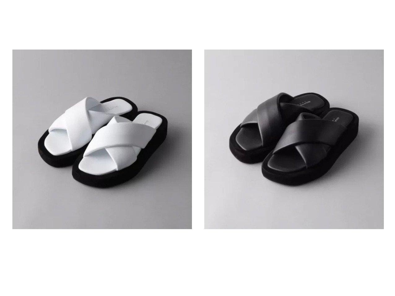 【Odette e Odile/オデット エ オディール】の【別注】GIULIA TADDEUCCI CROSS 別注・限定・コラボなど、おすすめ!人気トレンド・レディースファッション通販  おすすめで人気の流行・トレンド、ファッションの通販商品 メンズファッション・キッズファッション・インテリア・家具・レディースファッション・服の通販 founy(ファニー) https://founy.com/ ファッション Fashion レディースファッション WOMEN イタリア コレクション サンダル シューズ トレンド モノトーン 別注 厚底 |ID:crp329100000037885