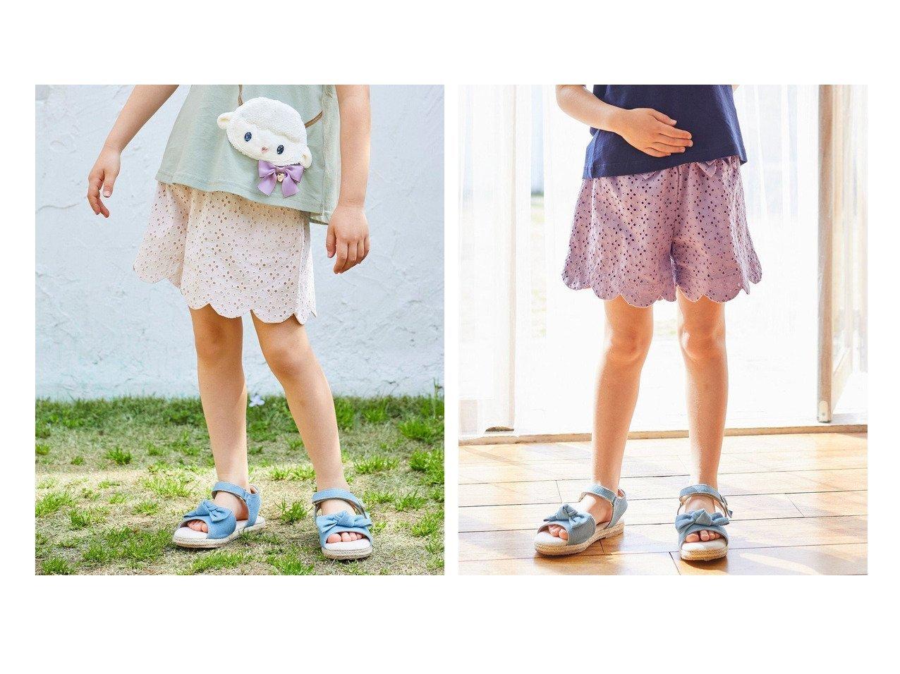 【anyFAM / KIDS/エニファム】のレーススカラップキュロット 【KIDS】子供服のおすすめ!人気トレンド・キッズファッションの通販 おすすめで人気の流行・トレンド、ファッションの通販商品 メンズファッション・キッズファッション・インテリア・家具・レディースファッション・服の通販 founy(ファニー) https://founy.com/ ファッション Fashion キッズファッション KIDS ボトムス Bottoms/Kids 春 Spring キュロット ショート スカラップ 人気 ポケット リボン レース 再入荷 Restock/Back in Stock/Re Arrival 送料無料 Free Shipping |ID:crp329100000037908
