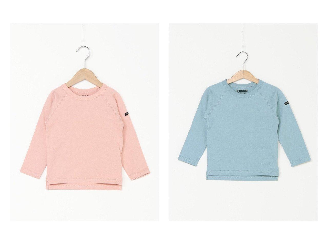 【b-ROOM / KIDS/ビールーム】の【プチプラ】BASICラグラン長袖Tシャツ 【KIDS】子供服のおすすめ!人気トレンド・キッズファッションの通販 おすすめで人気の流行・トレンド、ファッションの通販商品 メンズファッション・キッズファッション・インテリア・家具・レディースファッション・服の通販 founy(ファニー) https://founy.com/ ファッション Fashion キッズファッション KIDS トップス・カットソー Tops/Tees/Kids おすすめ Recommend カットソー スリーブ トレーナー プチプライス・低価格 Affordable 定番 Standard 無地 長袖  ID:crp329100000037917