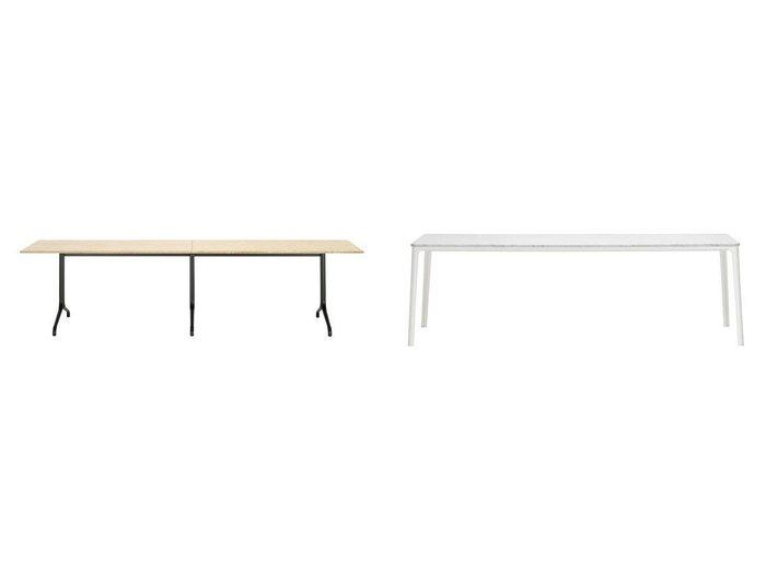 【Vitra/ヴィトラ】のベルヴィル テーブル レクタングラー W3000 × D750mm&プレート ダイニング テーブル 大理石天板 【FURNITURE】おすすめ!人気、インテリア・家具の通販 おすすめ人気トレンドファッション通販アイテム インテリア・キッズ・メンズ・レディースファッション・服の通販 founy(ファニー) https://founy.com/ アウトドア クラシック コーティング テーブル パウダー フレーム エレガント プレート ホーム・キャンプ・アウトドア Home,Garden,Outdoor,Camping Gear 家具・インテリア Furniture テーブル Table ダイニングテーブル |ID:crp329100000038005