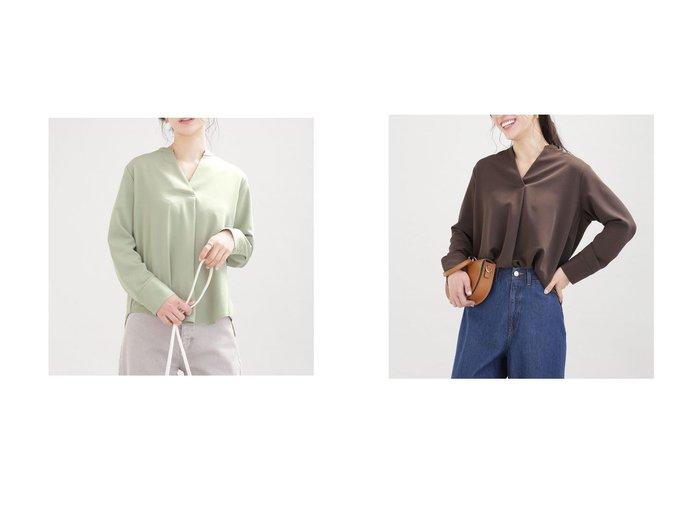 【nano universe/ナノ ユニバース】のWEB限定/とろみブラウス 長袖 別注・限定・コラボなど、おすすめ!人気トレンド・レディースファッション通販 おすすめファッション通販アイテム レディースファッション・服の通販 founy(ファニー) ファッション Fashion レディースファッション WOMEN トップス・カットソー Tops/Tshirt シャツ/ブラウス Shirts/Blouses エレガント 春 Spring シンプル スキッパー とろみ ドレープ 長袖 メタル 2021年 2021 S/S・春夏 SS・Spring/Summer 2021春夏・S/S SS/Spring/Summer/2021 |ID:crp329100000038073