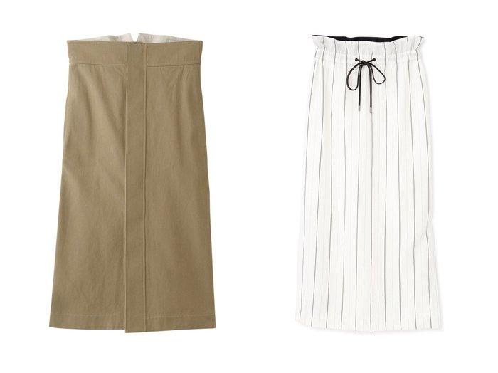 【BLAMINK/ブラミンク】のコットンバックベルトタイトスカート&【ADORE/アドーア】のユーカリストライプスカート 【スカート】おすすめ!人気、トレンド・レディースファッションの通販  おすすめファッション通販アイテム レディースファッション・服の通販 founy(ファニー) ファッション Fashion レディースファッション WOMEN スカート Skirt ロングスカート Long Skirt バッグ Bag ベルト Belts おすすめ Recommend タイトスカート ロング ストライプ セットアップ リラックス ワーク |ID:crp329100000038311