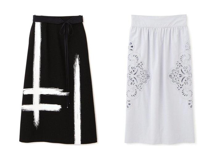 【ADORE/アドーア】のボールドカットワークスカート&ブラッシュストロークプリントスカート 【スカート】おすすめ!人気、トレンド・レディースファッションの通販  おすすめファッション通販アイテム インテリア・キッズ・メンズ・レディースファッション・服の通販 founy(ファニー) https://founy.com/ ファッション Fashion レディースファッション WOMEN スカート Skirt ロングスカート Long Skirt おすすめ Recommend プリント ボンディング マキシ モチーフ ロング スリット セットアップ タイトスカート ハンド ベーシック レース ワーク |ID:crp329100000038313