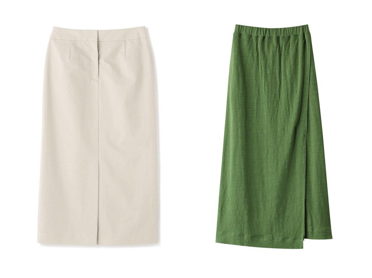 【unfil/アンフィル】のフレンチリネンジャージーロングスカート&【ADORE/アドーア】のプレゼントタイプライタースカート 【スカート】おすすめ!人気、トレンド・レディースファッションの通販  おすすめで人気の流行・トレンド、ファッションの通販商品 メンズファッション・キッズファッション・インテリア・家具・レディースファッション・服の通販 founy(ファニー) https://founy.com/ ファッション Fashion レディースファッション WOMEN スカート Skirt ロングスカート Long Skirt おすすめ Recommend ジャケット スリット セットアップ タイプライター フロント ポケット ロング |ID:crp329100000038314