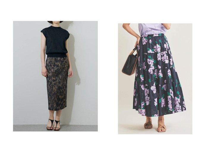 【The Virgnia/ザ ヴァージニア】のコットンティアードフラワースカート&【Whim Gazette/ウィムガゼット】のハイエナプリントスカート 【スカート】おすすめ!人気、トレンド・レディースファッションの通販  おすすめファッション通販アイテム レディースファッション・服の通販 founy(ファニー)  ファッション Fashion レディースファッション WOMEN スカート Skirt ロングスカート Long Skirt シューズ タイトスカート タンブラー フラット リネン イエロー ティアード ティアードスカート フラワー ラベンダー ロング |ID:crp329100000038317