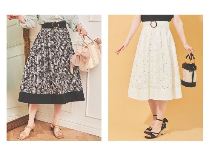【31 Sons de mode/トランテアン ソン ドゥ モード】のカットワーク刺繍切替スカート 【スカート】おすすめ!人気、トレンド・レディースファッションの通販  おすすめファッション通販アイテム レディースファッション・服の通販 founy(ファニー) ファッション Fashion レディースファッション WOMEN スカート Skirt ロングスカート Long Skirt 2021年 2021 2021春夏・S/S SS/Spring/Summer/2021 S/S・春夏 SS・Spring/Summer トレンド フレア ロング ワーク 切替 |ID:crp329100000038330