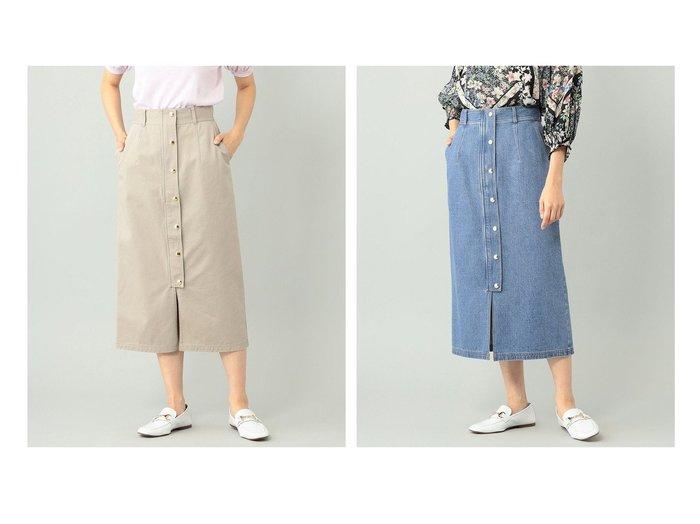 【GRACE CONTINENTAL/グレース コンチネンタル】のミディタイトスカート 【スカート】おすすめ!人気、トレンド・レディースファッションの通販  おすすめファッション通販アイテム レディースファッション・服の通販 founy(ファニー) ファッション Fashion レディースファッション WOMEN スカート Skirt 送料無料 Free Shipping シンプル デニム フロント |ID:crp329100000038335