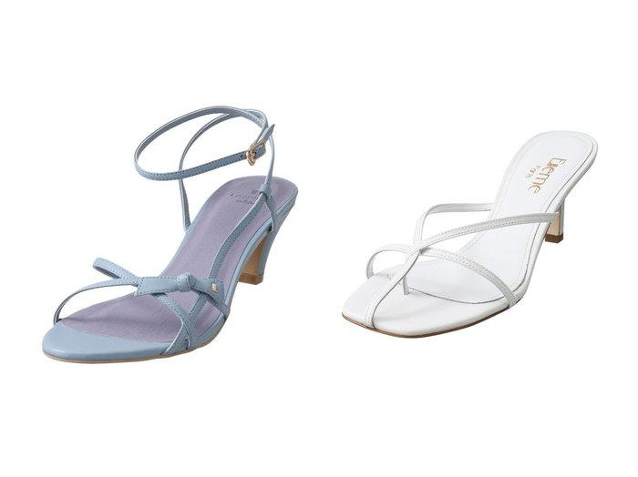 【LANVIN en Bleu/ランバン オン ブルー】のストラップサンダル&【Chaos/カオス】の【Elleme】EtoileHeelサンダル 【シューズ・靴】おすすめ!人気、トレンド・レディースファッションの通販  おすすめファッション通販アイテム レディースファッション・服の通販 founy(ファニー)  ファッション Fashion レディースファッション WOMEN サンダル ストラップサンダル パーティ リボン スマート ヌーディ フォルム |ID:crp329100000038340
